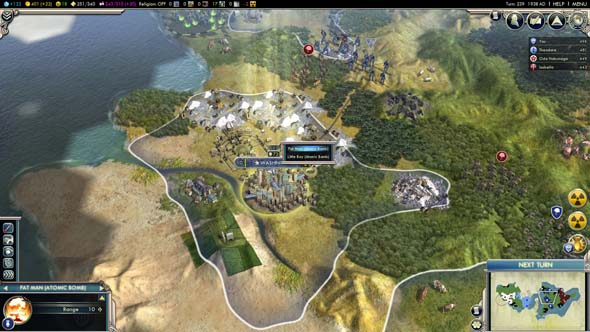 Civilization V - Fat Man and Little Boy mod