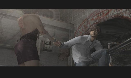 Silent Hill 4 - taking Eileen through portal