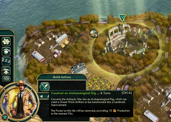 Civilization V: Brave new World - Archaeological dig'