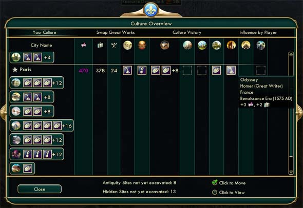 Civilization V: Brave new World - Paris tourism