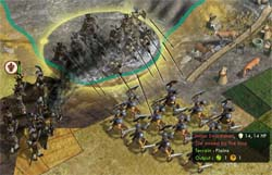 Civilization V: Brave new World - Impi ranged attack