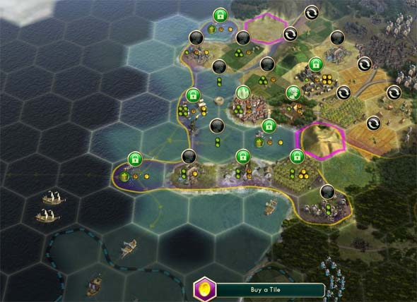Civilization V: Brave new World - coastal city