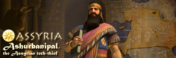 Civilization V Brave New World - Ashurbanipal of Assyria