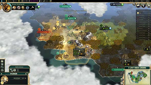 Civilization V: Brave new World - provoking Assyria's wrath