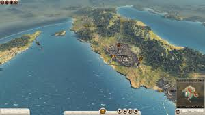 Total War Rome II: campaign map