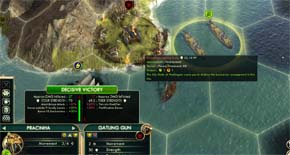 Civilization V - Brazilian Pracinha attacking barbarian with foreign land bonus