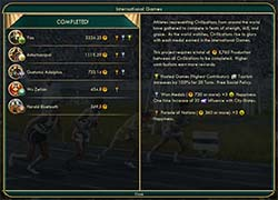 Civilization V: Brave new World - Brazil winning World Games