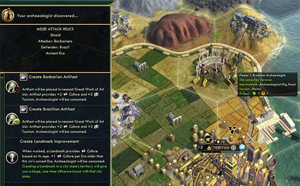 Civilization V: Brave new World - building a foreign landmark