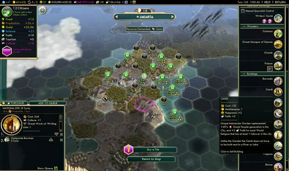 Civilization V - Candi (Peace Gardens)