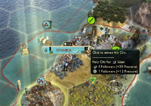 Civilization V - captured Holy City