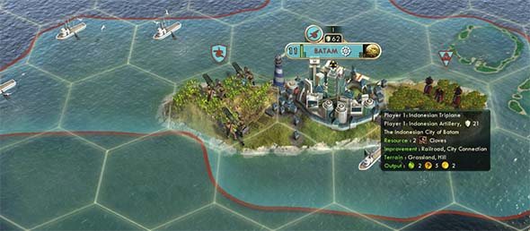 Civilization V - Indonesian Clove city