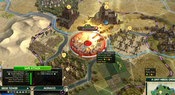 Civilization V: Brave new World - two Assyrian siege towers