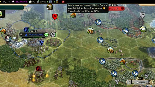 Civilization V - German unit cap 1