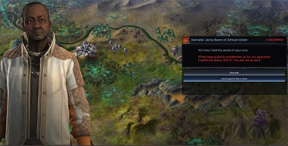 Civilization: Beyond Earth - being denounced