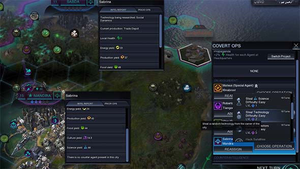 Civilization: Beyond Earth - espionage