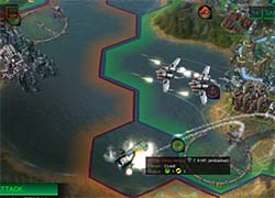 Civilization: Beyond Earth - tacjet attacking embarked unit