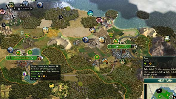 Civilization V - internal trade routes