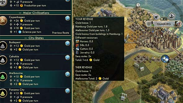Civilization V - redirecting trade to city states