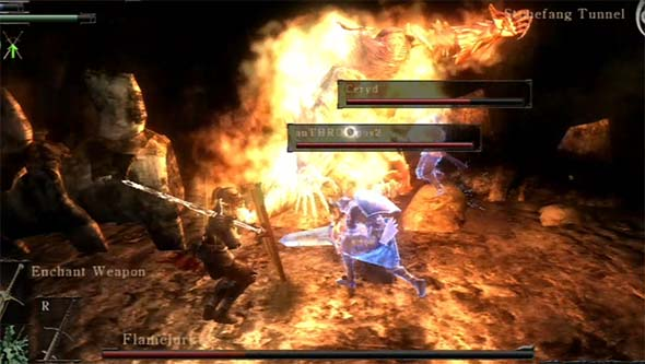 Demon's Souls - Flamelurker with 2 phantoms