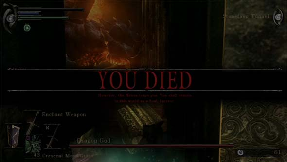 Demon's Souls - you have died