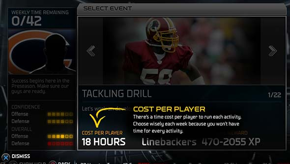 Madden '15 - game preparation