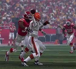 Madden '15 - blindside sack