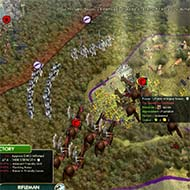 Civilization V - Winged Hussar forcing retreat towards allies