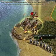 Civilization V - Winged Hussar forcing retreat from encampment