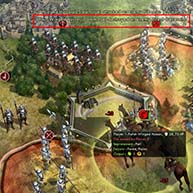 Civilization V - Winged Hussar forcing retreat from fort