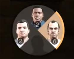 Grand Theft Auto V - character wheel
