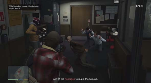 Grand Theft Auto V - intro bank robbery