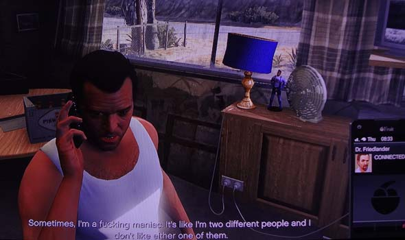 Grand Theft Auto V - Michael talking to therapist