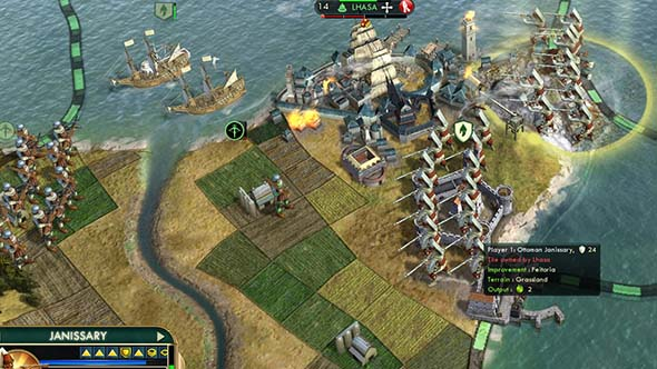 Civilization V - attacking CS with Feitoria
