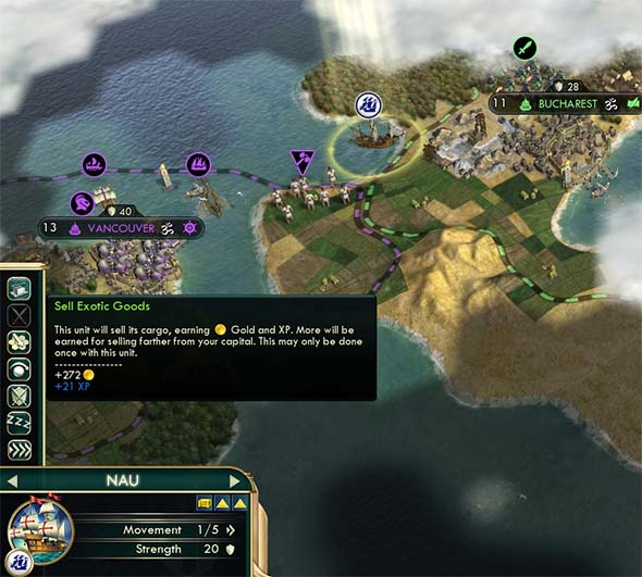 Civilization V - Nau selling cargo