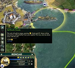 Civilization V - Ironclad with Exotic Cargo