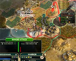 Civilization V - Pride of Ancestors doesn't apply to ranged targets outside of your borders