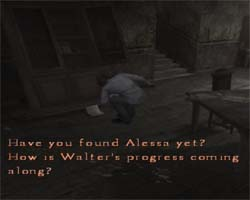 Silent Hill 4 - note about Alessa and Walter
