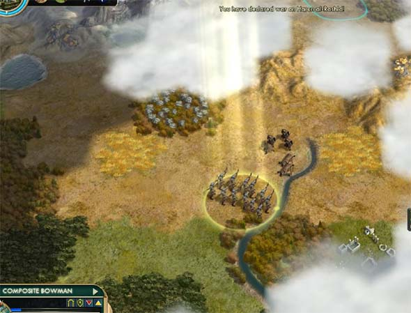 Civilization V - Shoshone Pathfinder Composite Bow attacking enemy Scout