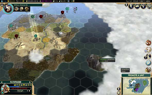 Civilization V - Unclaimed continent