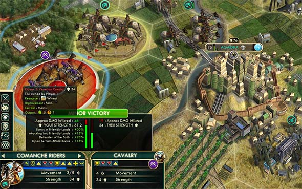 Civilization V - Shoshone buffed with Himeji and Patriotic War