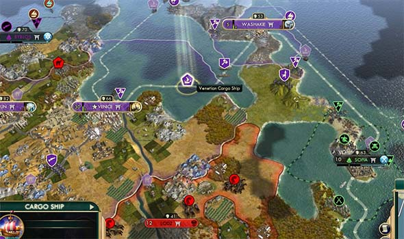 Civilization V - Venice purchased a canal city