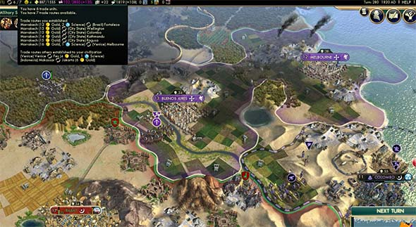 Civilization V - Venice eating up trade partners
