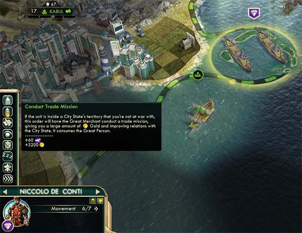 Civilization V - Merchant of Venice trade mission