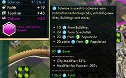 Civilization V - Puppet science penalty