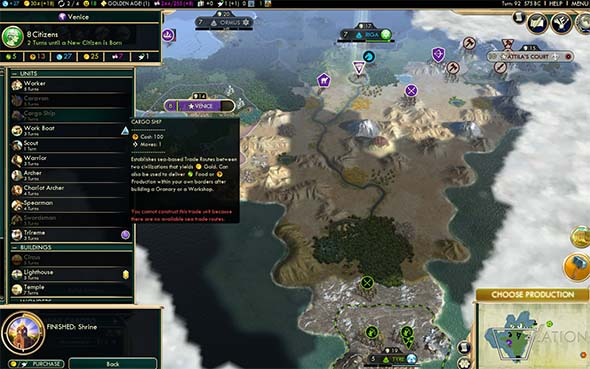 Civilization V - CS trade hub