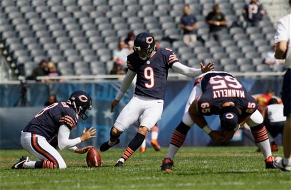 Chicago Bears longsnapping practice