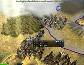 Civilization V - Zulu Impi melee attack