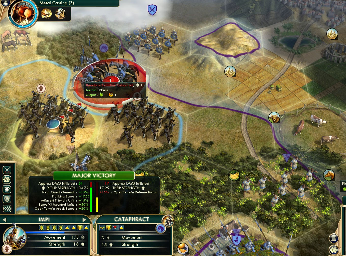 civilization v zulu impi spear throw not included in combat odds