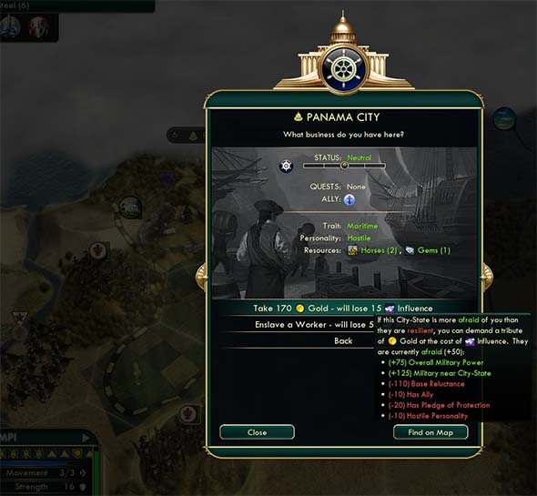 Civilization V - demanding tribute