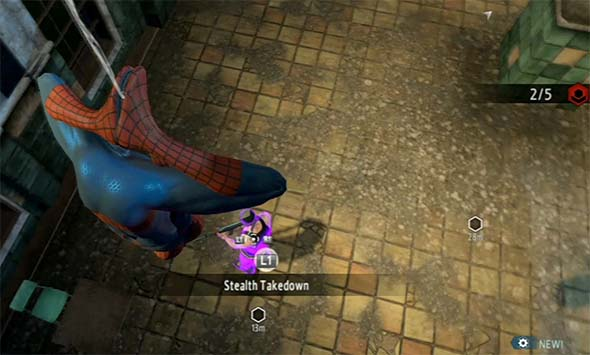 Amazing Spider-Man 2 game - stealth rappelling